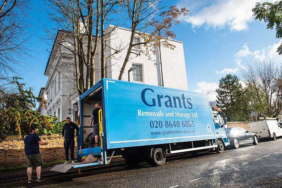 grants removals loading van